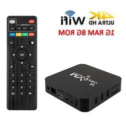 MXQ Pro Android 7.1 Smart TV Box 8G Quad Core 4K HD 2.4GHz W