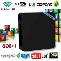 S905X Android 6.0 Smart TV Box 1+8GB Quad Core 4K HD 2.4GHz