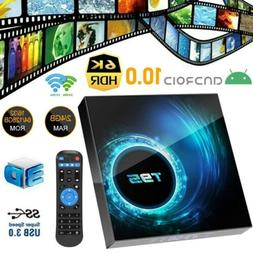 T95 4K TV BOX Android 10 CORE 4GB+128GB  2.4/5G WIFI HDMI 3D